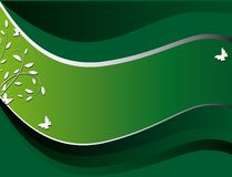 Green banner Stock Image