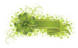 Green banner. Stock Photos