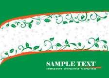 Green banner. Fully editable green vector banner Royalty Free Stock Image