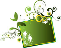 Green banner Royalty Free Stock Image