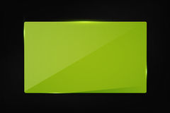 Green banner on carbon background Stock Images