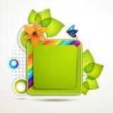Green banner design Stock Image