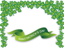 Green banner, saint patrick's day Royalty Free Stock Photos