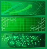 Green banners Stock Photos