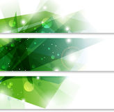 Green banners Stock Images