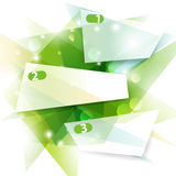 Green banners. This is three green vector banners Stock Photos