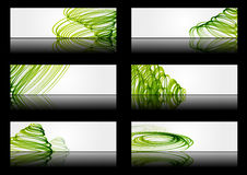 Green banners. Set of abstract banners with green lines Stock Images