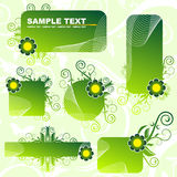 Green banners. Abstract green and white banners Stock Image