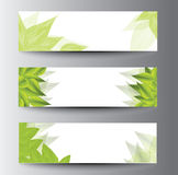 Green banners. With place for text Royalty Free Stock Photos