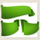 Green banners Royalty Free Stock Images