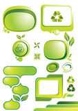 Green banners Stock Photography