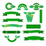 Green banners set - Illustration. Green banners set. Fully , easy color change Royalty Free Stock Images