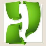Green banners,vector set Stock Photos