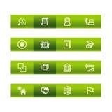 Green bar building icons Royalty Free Stock Photos