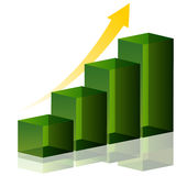 Green Bar Chart Stock Image