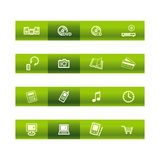 Green bar home electronics ico Royalty Free Stock Image