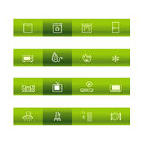 Green bar household goods icon Stock Photo