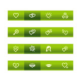 Green bar love icons Royalty Free Stock Photography