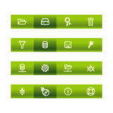 Green bar server icons. Vector file has layers, all icons in two versions are included. Zip-file includes: EPS, AI8, JPEG (3500x3500 Stock Photo