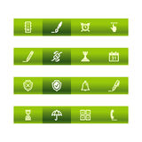 Green bar software icons Royalty Free Stock Image