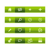 Green bar web icons Stock Photos