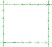 Green Barb frame. Stock Photography