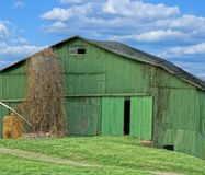 The Green Barn Royalty Free Stock Photo
