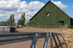 Green barn Stock Photography
