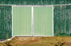 Green barn door Stock Photos