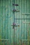 Green barn door Stock Image