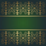 Green baroque  background flowers Stock Photography