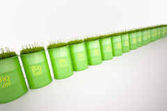 Green barrel of bio fuel royalty free stock image