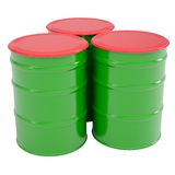 Green barrel Stock Photos