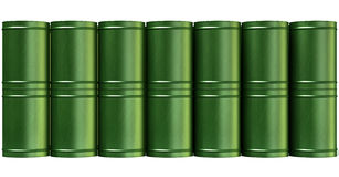 Green Barrel Stack Front Stock Photos