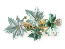Green barrette Royalty Free Stock Photo