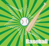 Green baseball banner with star Royalty Free Stock Photography