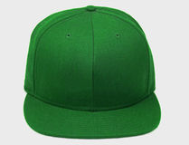 Green Baseball hat. Shot of a isolated baseball hat on a white background Stock Image