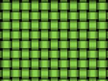 Green basket. Green wicker seamless texture with dark shadows, abstract background Stock Image