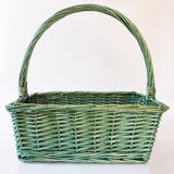 Green basket Stock Image