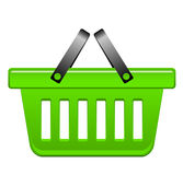 Green basket Royalty Free Stock Image
