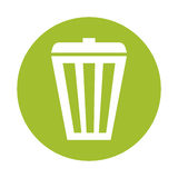 Green basket care environment icon. Illustration Stock Image