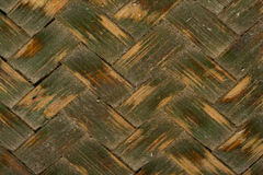 Green basket weave texture - background. Close up to green basket weave texture Stock Photos