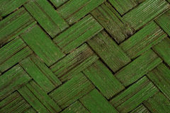 Green basket weave texture - background Stock Photos