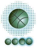Green basketballs with haftone Royalty Free Stock Photography