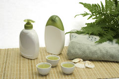 Green bath stock photography