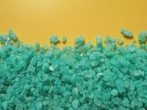 Green bath salt Stock Image