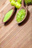 Green bath salt Royalty Free Stock Photo