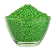 Green bath salt Royalty Free Stock Photos
