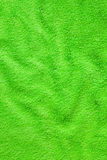 Green bath towel Royalty Free Stock Photos