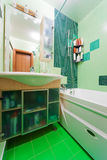 Green bathroom Stock Photos
